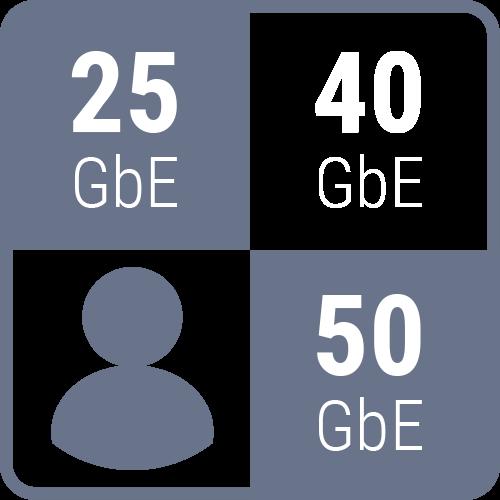 LumaForge Jellyfish connectivity spec icon 25 40 50 gbe